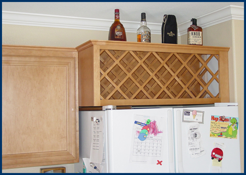 Wine Rack Kitchen Cabinet Insert - Rooms