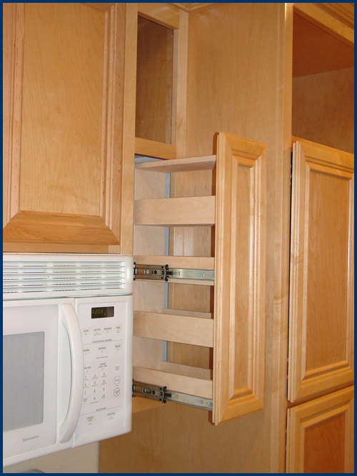 Click For Larger Image Maple Upper Cabinets With E Rack View 2 Refrigerator Pantry